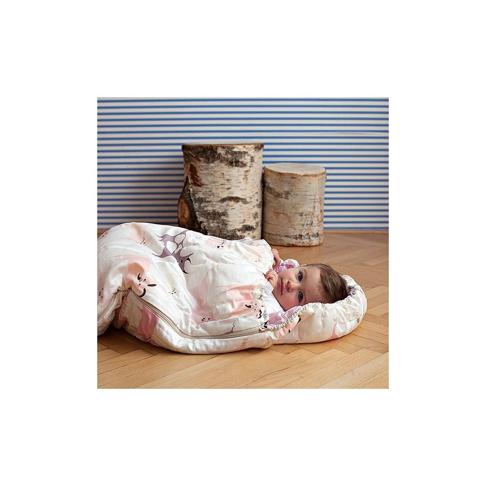 Dětský spací pytel Bartex Růžová zvířátka, 70 x 165 cm