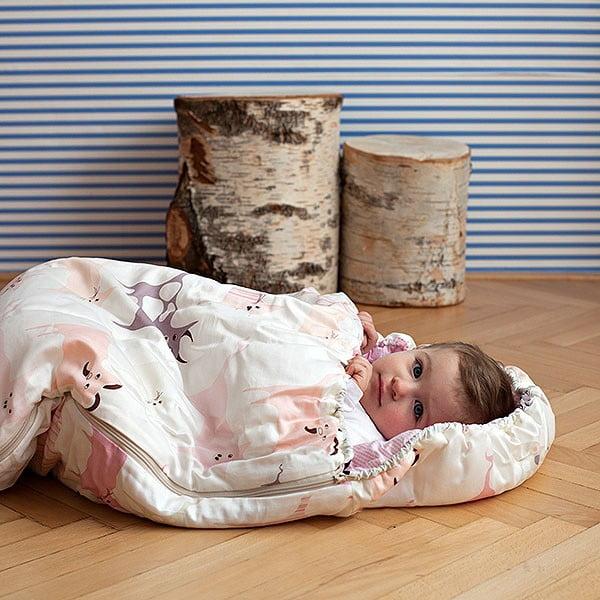 Detský spací vak Bartex Ružové zvieratká, 70×200cm