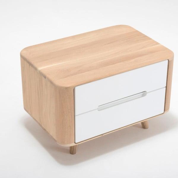 Noční stolek z dubového dřeva Gazzda Ena One,60x42cm