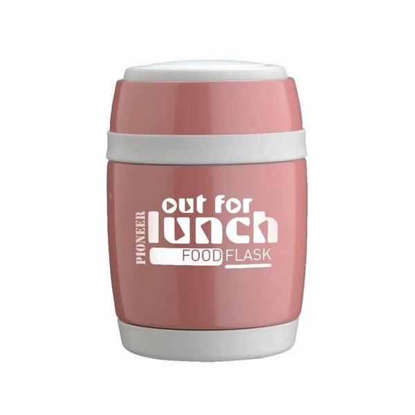 Miska na polévku s lžící Pink Lunch, 480 ml