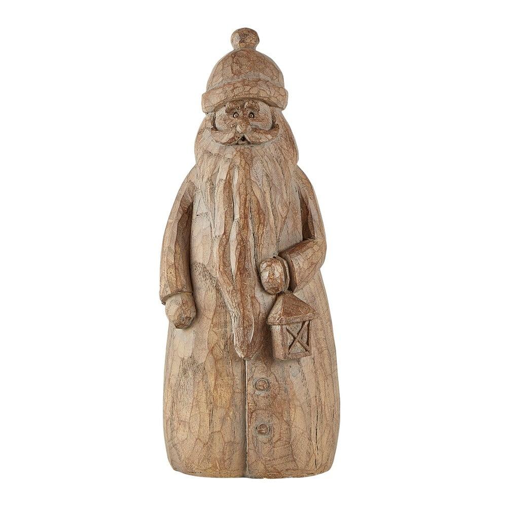 Hnědá dekorativní soška KJ Collection Santa Claus, 24,5 cm