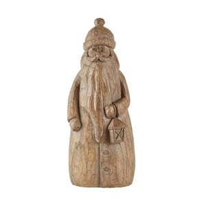 Statuetă KJ Collection Santa Claus, 24,5 cm, maro