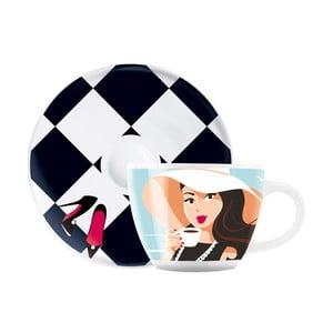 Set porcelánového šálku a podšálku na espresso Ritzenhoff Astrid Mueller, 8cl