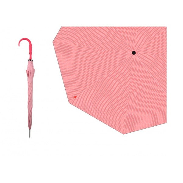 Deštník Silhouette Crocodile, růžový