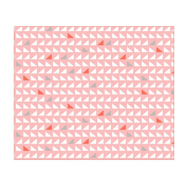 Deka Triangles Pink, 180x150 cm