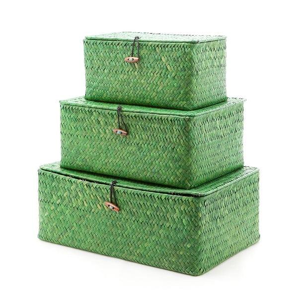 Sada 3 krabic Balk Green