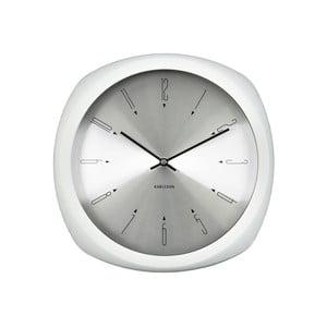 Bílé hodiny Present Time Aesthetic Square