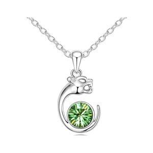 Náhrdelník se zeleným krystalem Swarovski Panther