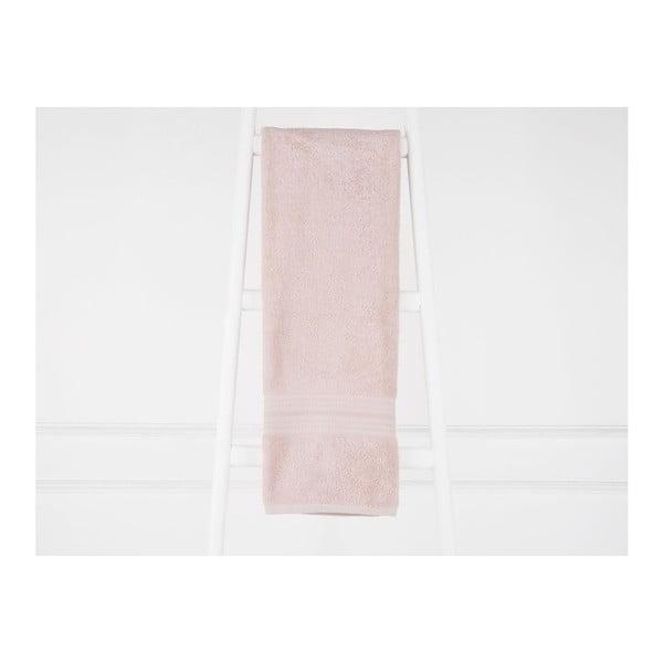 Svetloružový bavlnený uterák Emily, 70×140 cm