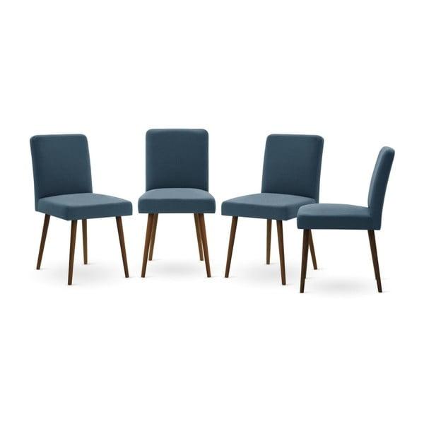 Set canapea neagră cu 3 locuri, 4 scaune albastre, o saltea 160 x 200 cm Home Essentials