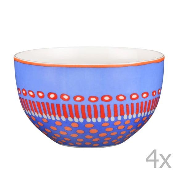 Sada 4 porcelánových misek Oilily 12 cm, modrá