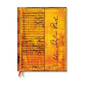 Denní diář na rok 2019 Paperblanks Bach, 18 x 23 cm