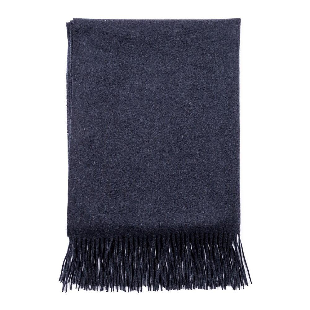 Tmavě modrá kašmírová šála Bel cashmere Lea, 200 x 70 cm