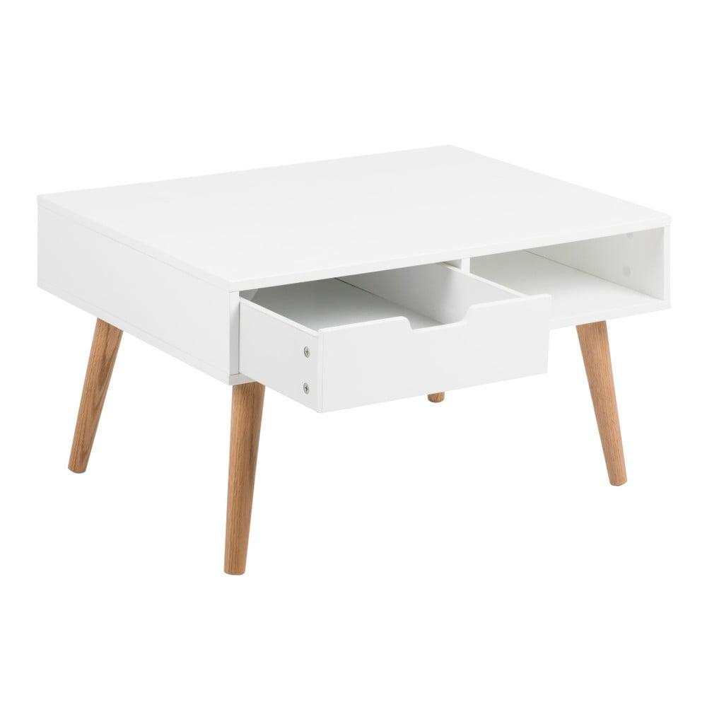 Bílý konferenční stolek Actona Mitra, 80 x 45,5 cm