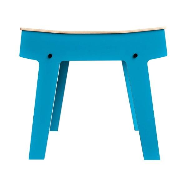 Modrá stolička/stolek s úložným prostorem rform Pi
