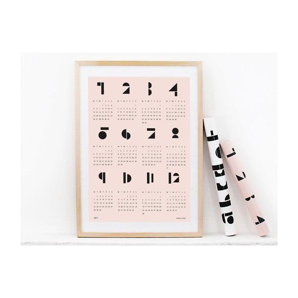 Nástěnný kalendář SNUG.Toy 2016, růžový