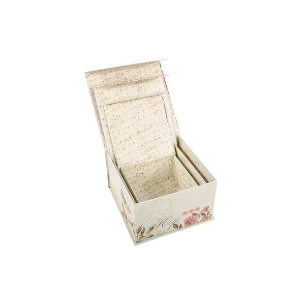 Sada 3 úložných krabic Hope