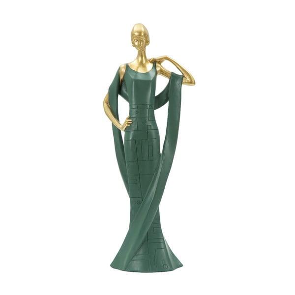 Statuetă decorativă din fier Mauro Ferretti Donna, verde smarald