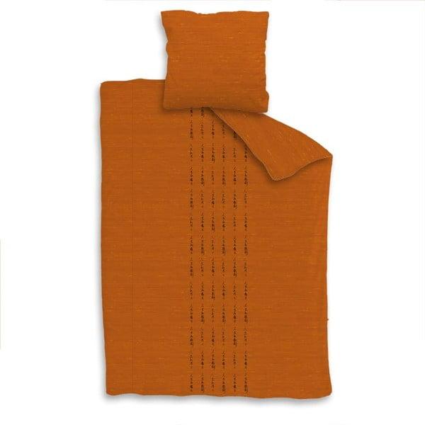 Povlečení na jednolůžko Jilin orange, 140x200 cm