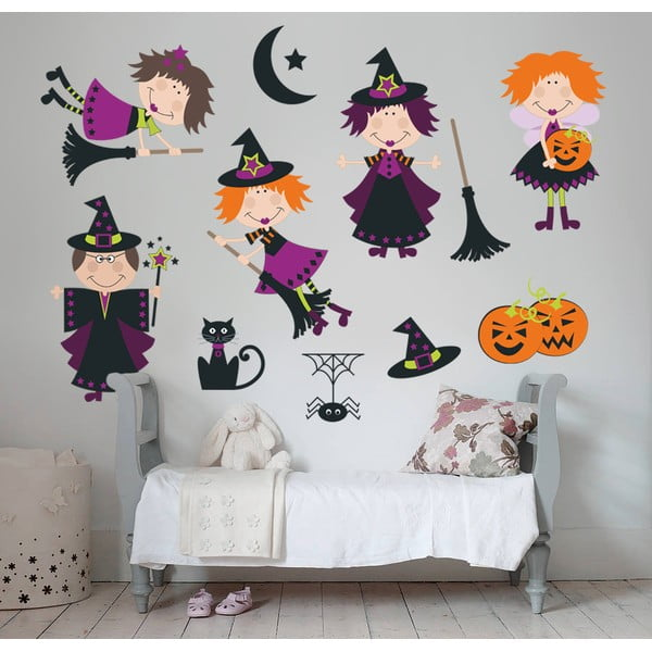 Samolepka na stěnu Čarodějky, 50x70 cm