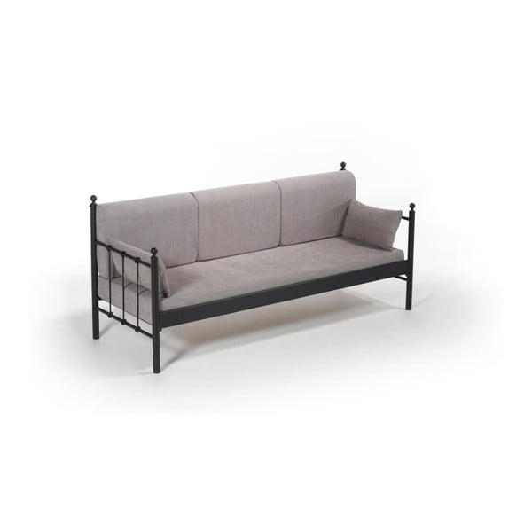 Šedá třímístná venkovní sedačka Lalas DK, 76 x 209 cm