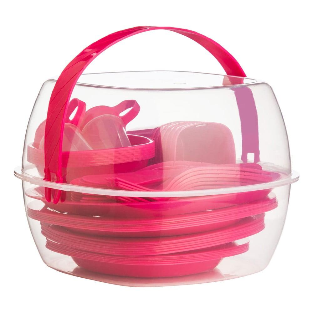 Pikniková sada Premier Housewares Hot Pink, 51 ks