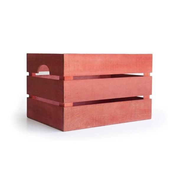 Rustikální dřevěná bedýnka Really Nice Things, červená