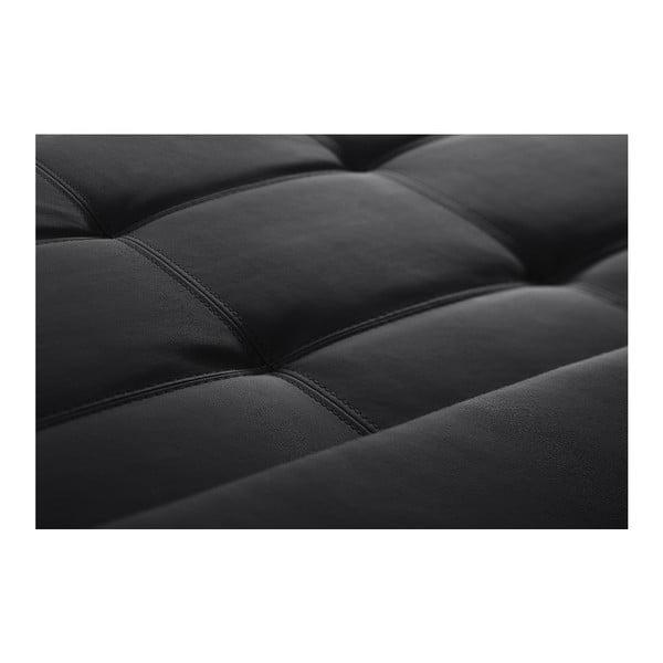 Černá pohovka Modernist Symbole, levý roh