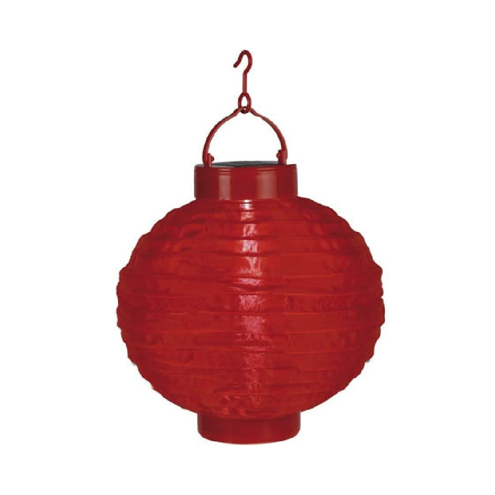 Červený venkovní solární LED lampion Best Season Summer, ø 30 cm