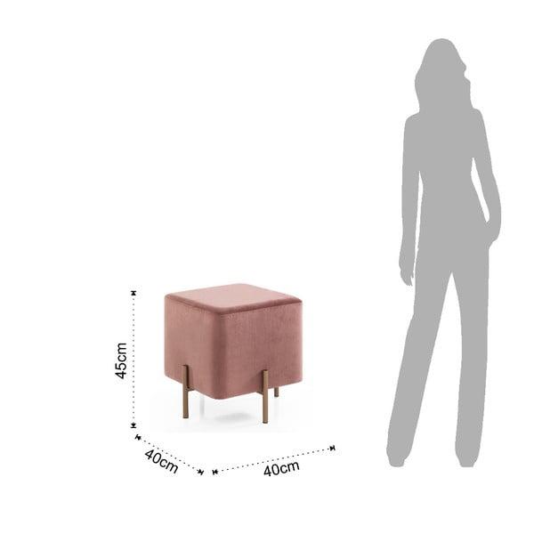 Růžová taburetka Tomasucci Ammy, 40x40cm