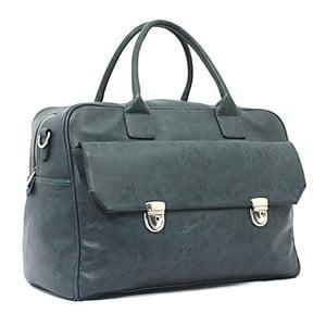 Cestovní taška Bobby Black - modrá, 45x33 cm
