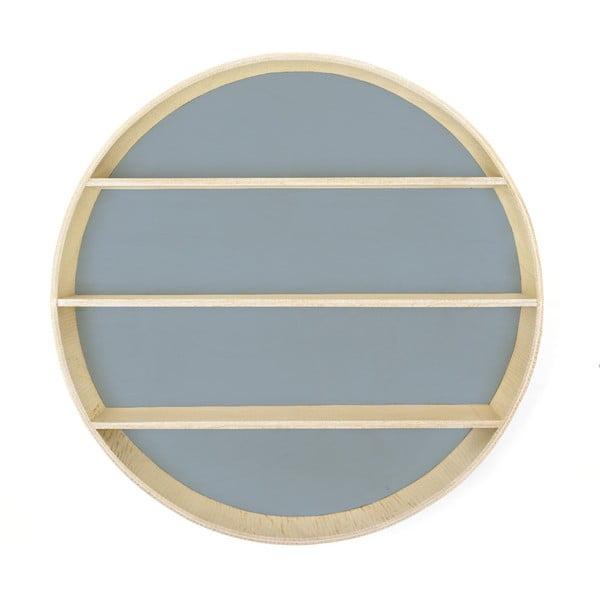 Světle modrá police Surdic Azul, ø 56 cm