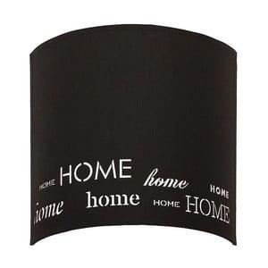 Černé nástěnné svítidlo Home Sweet Home