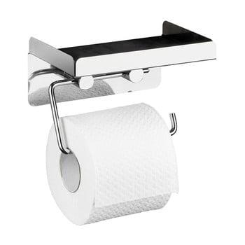 Suport autoadeziv pentru hârtia de toaletă 2 în 1 Wenko imagine