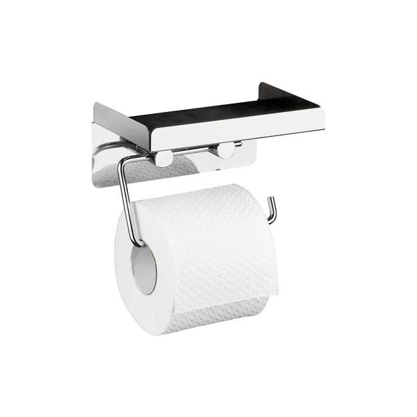 Samodržiaci držiak na toaletný papier s odkladacou plochou Wenko