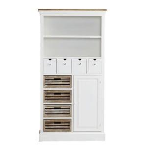 Knihovna se zásuvkami Charlston White, 88x169x34 cm