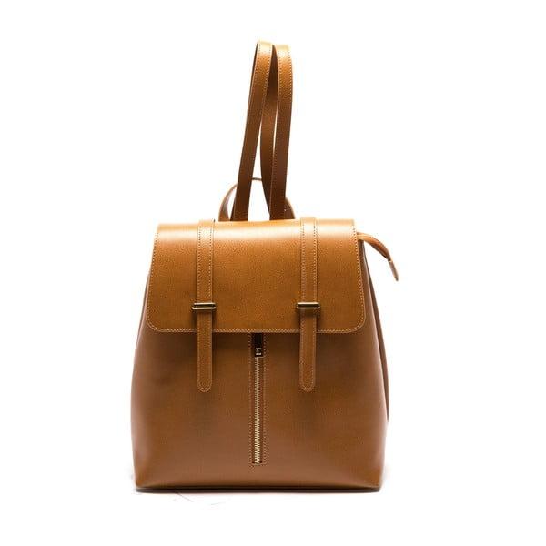Hnědý kožený batoh Sofia Cardoni Noemi