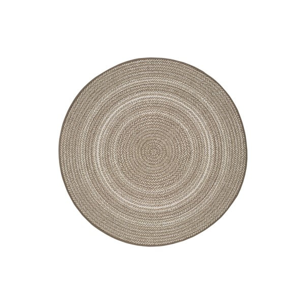 Beżowy dywan odpowiedni na zewnątrz Universal Silvana Rutto, ⌀ 120 cm