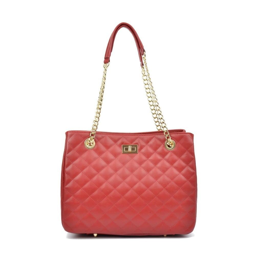 Červená kožená kabelka Isabella Rhea Verde