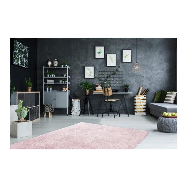 Růžový ručně vyráběný koberec Obsession My Carnival Car Popi, 60 x 110 cm