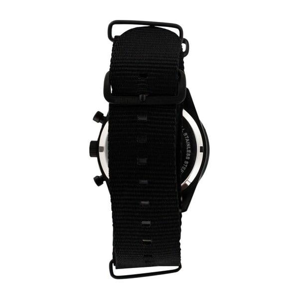 Pánské černé hodinky s nylonovým páskem Zadig & Voltaire Hemp