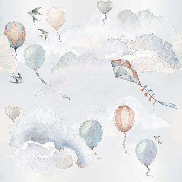 Sada nástěnných samolepek Dekornik Balloons Fairytale