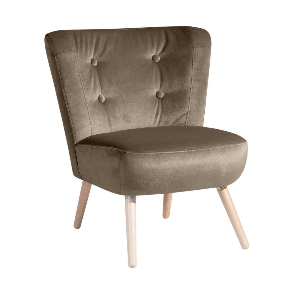 fotoliu max winzer neele velvet gri bej bonami. Black Bedroom Furniture Sets. Home Design Ideas