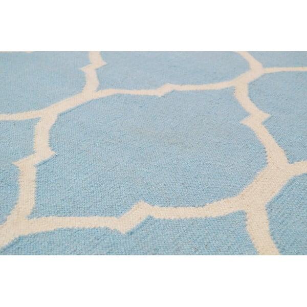 Ručně tkaný koberec Lara Light Blue, 140x200 cm
