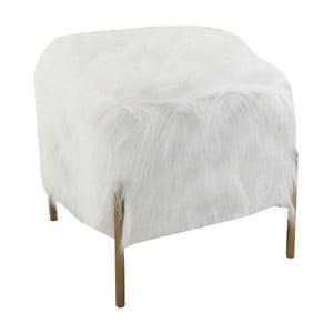 Bílá čtvercová stolička Kare Design Fur