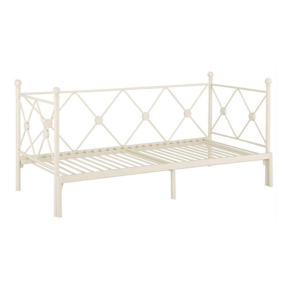 Bílá rozkládací jednolůžková postel Støraa Johnson, 90/180x200cm