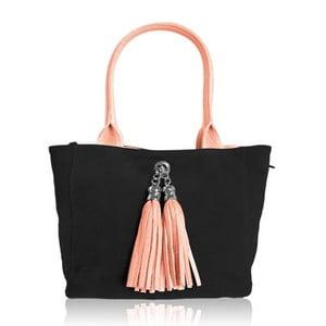 Oboustranná kožená kabelka Dolce Sonia Rosa/Nero