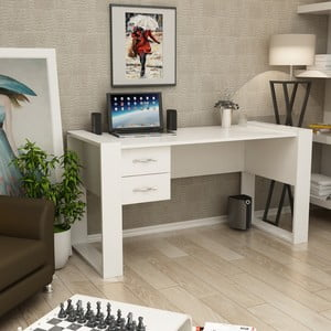 Bílý pracovní stůl Homitis Eleanor