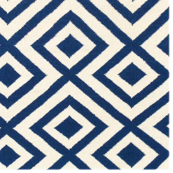 Vlněný koberec Luisa Dark Blue, 200x140 cm