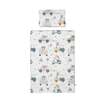 Set păturică matlasată din bumbac și pernă pentru copii BELLAMY Jackie, 100 x 135 cm imagine